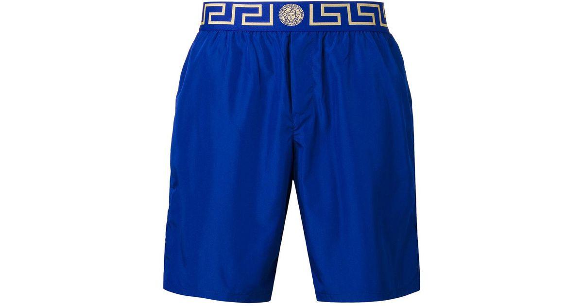173dcb1089 Versace Blue - Greek Key Medusa Swim Shorts - Men - Polyester - 4 for men