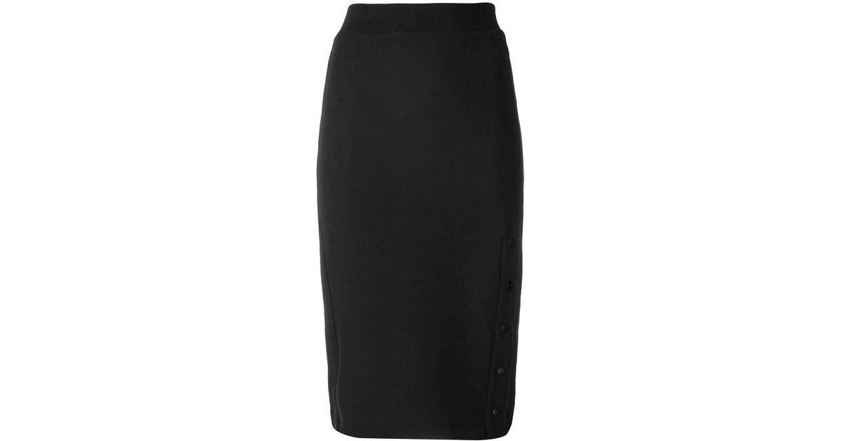 1c48e943f Champion Logo Embroidered Pencil Skirt in Black - Lyst