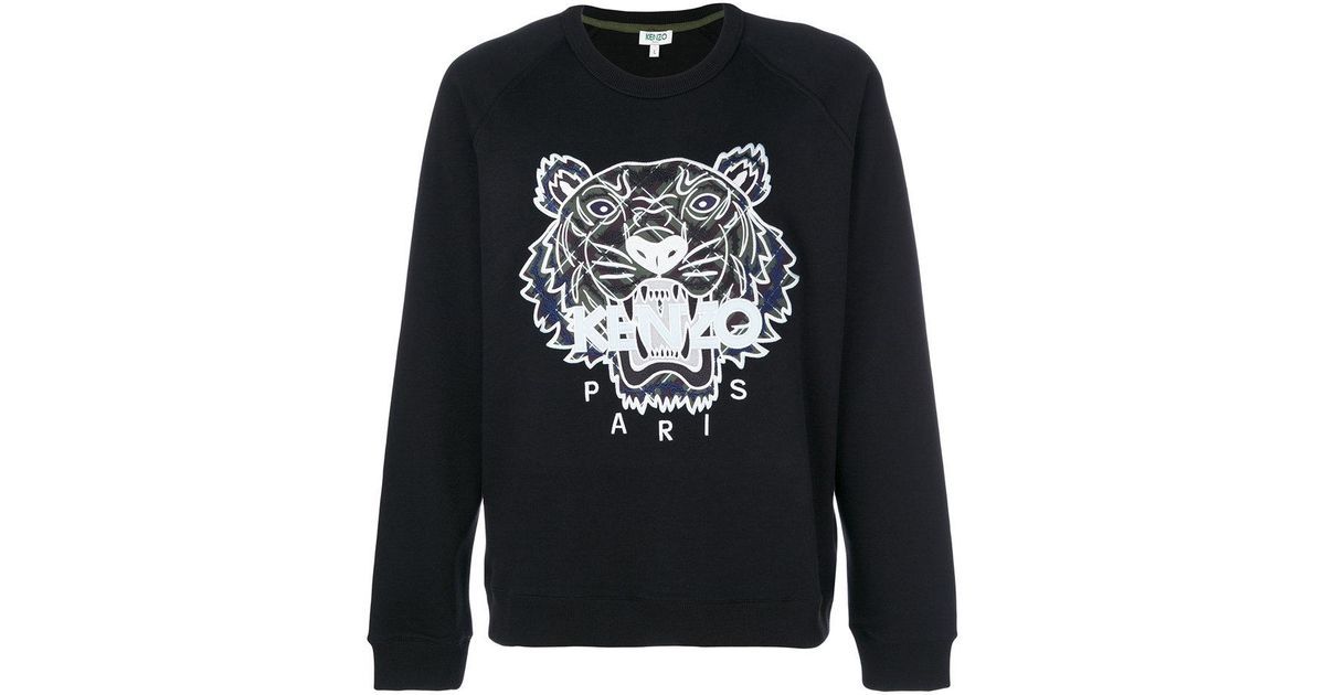 5af7d24230 Lyst - Kenzo Tiger Sweater in Black for Men