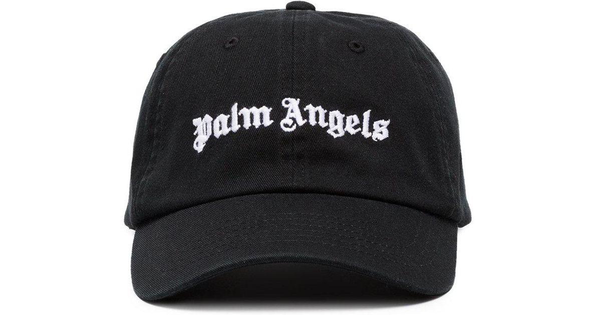 Palm Angels Vintage Logo Cap in Black for Men - Lyst 15493e05c59
