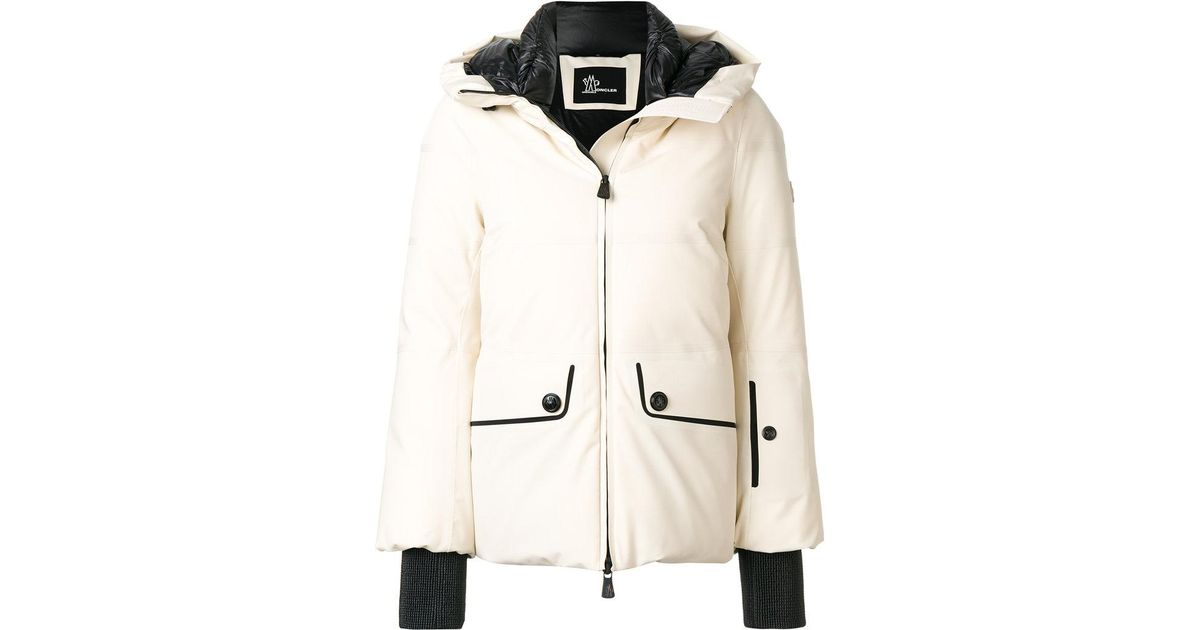 a8a659ad8 Moncler Grenoble - White Padded Hood Jacket - Lyst