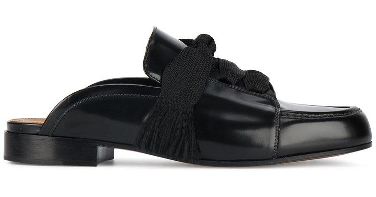 Black Harper Gloss Leather Mules Chlo�� vGA6j