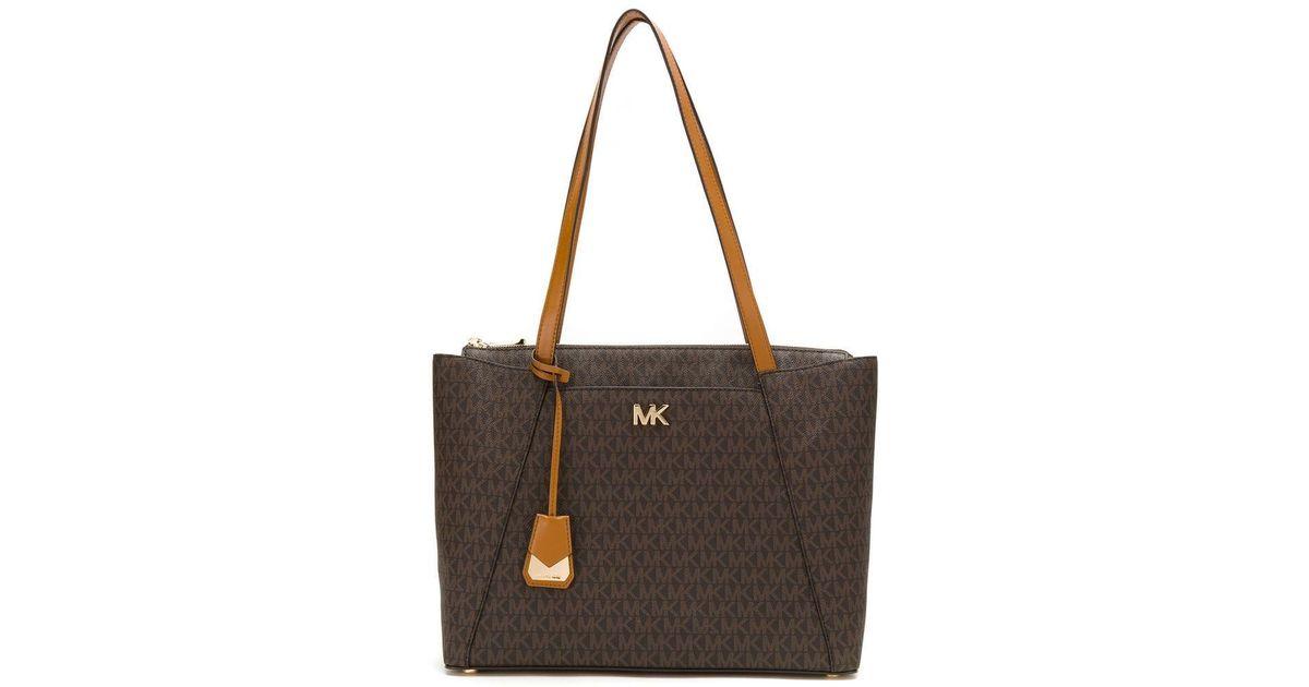 244ae9b6e3e6 Lyst - MICHAEL Michael Kors Voyager Logo Tote Bag in Brown