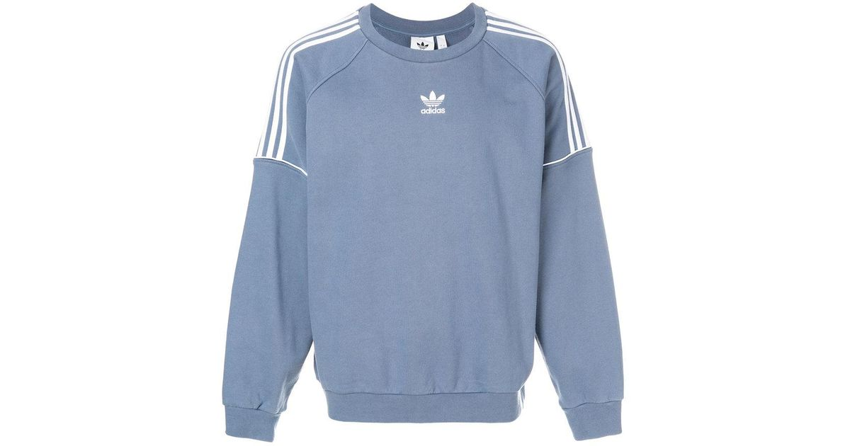 save up to 80% website for discount to buy Adidas Blue Pipe Crew Sweatshirt for men