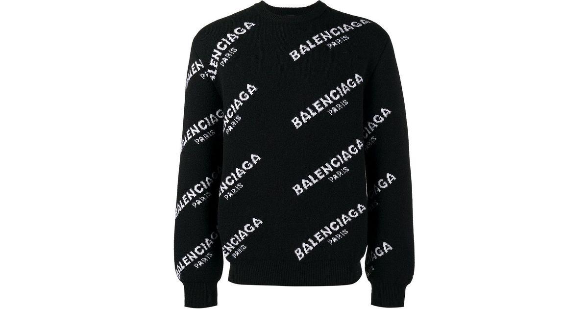 Pull Pour Homme Monogrammé Balenciaga En Coloris Black YI6g7fybv