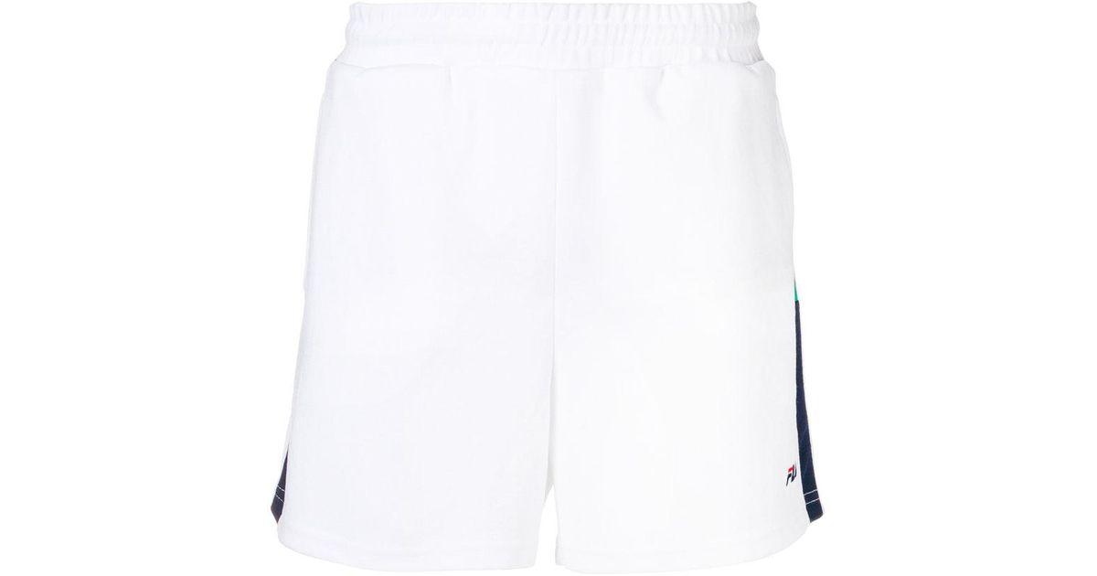534700f21441 Fila Carlos Side Strap Shorts in White for Men - Lyst