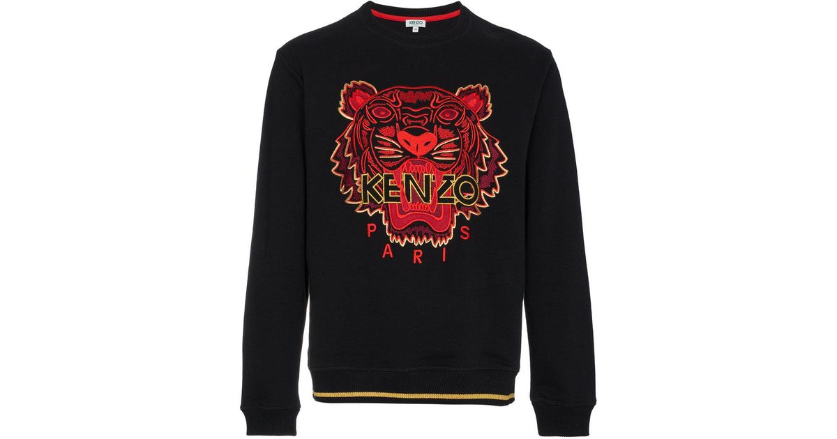 38c0b0302c7 KENZO Chinese Ny Capsule Collection Tiger Sweatshirt in Black for Men - Lyst