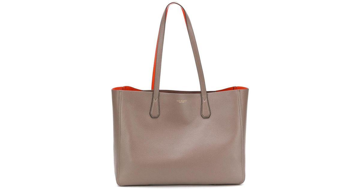 c0ea33e45394 Lyst - Tory Burch Perry Reversible Tote Bag in Brown