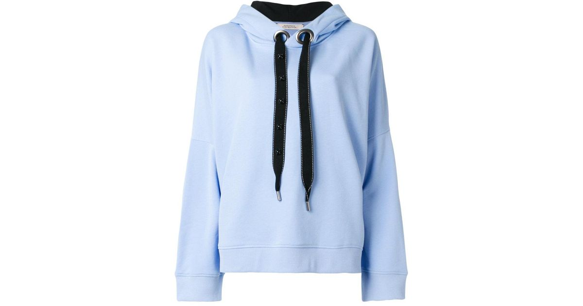 lyst dorothee schumacher classic hoodie in blue. Black Bedroom Furniture Sets. Home Design Ideas