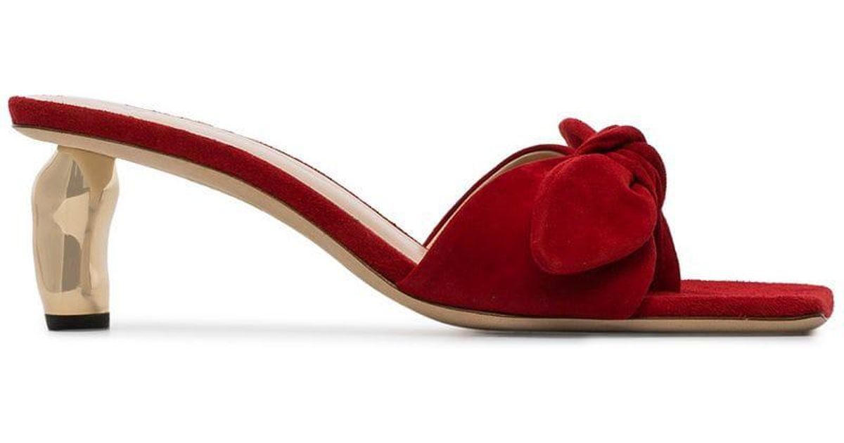 5748c4fb2 Lyst - Rejina Pyo Lottie Bow Embellished Suede Sandals in Red