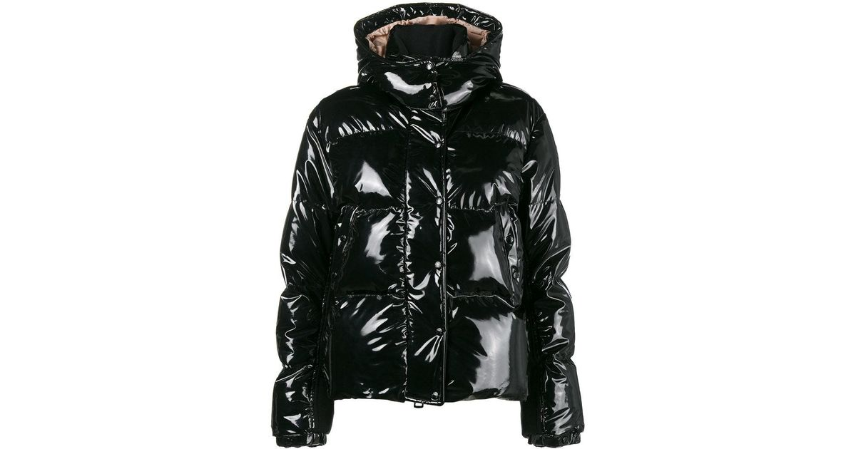 1f501b15ee38 Lyst - Moncler Feather Down Shiny Puffer Jacket in Black