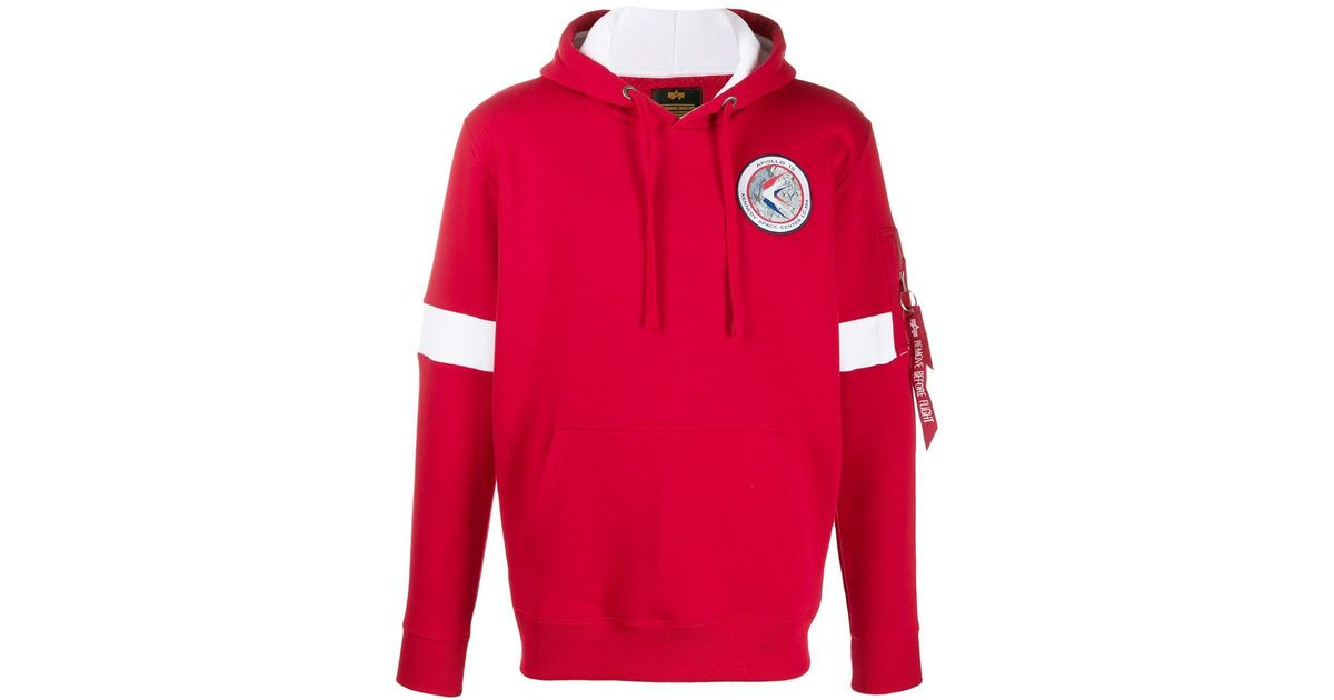 1a84ea666 Alpha Industries Red Apollo 15 Hoodie for men