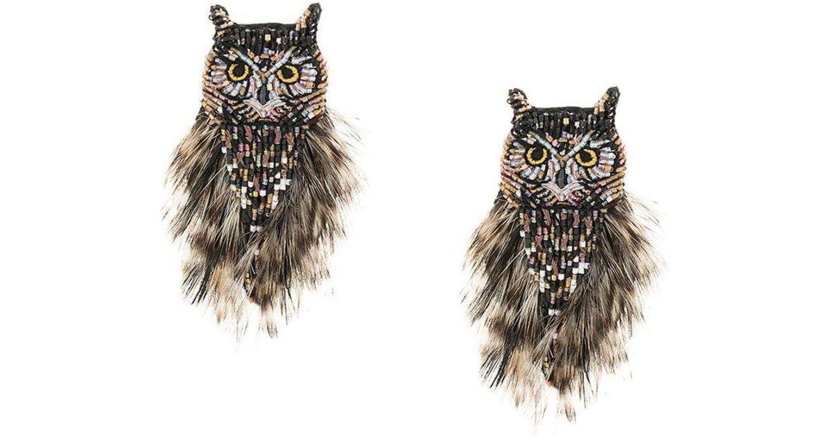 Mignonne Gavigan Brown Owl Earring