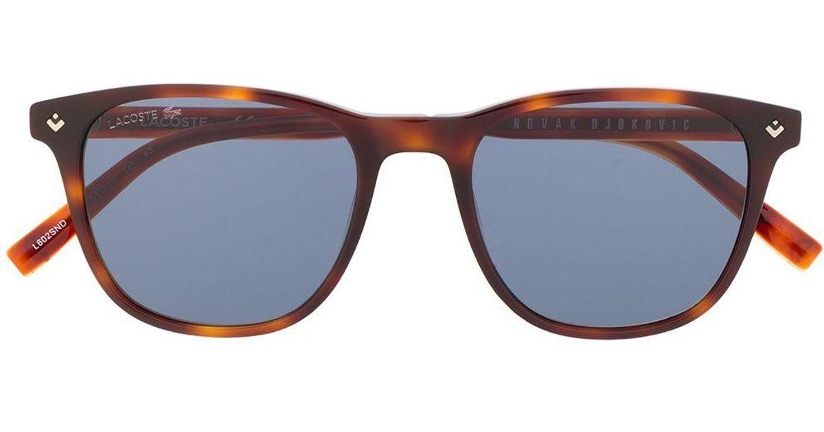 Lacoste X Novak Djokovic Eckige Sonnenbrille In Braun Lyst
