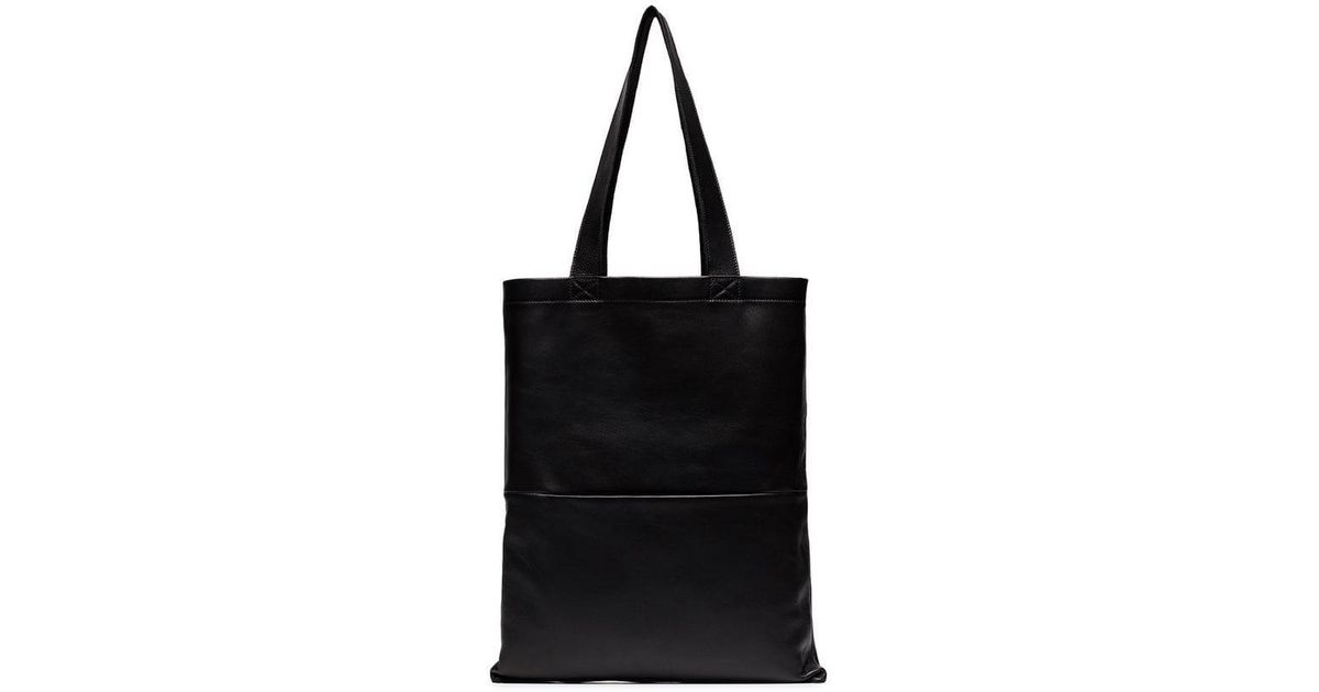 17792a2dd3c7 Lyst - Rick Owens Black Small Signature Leather Tote Bag in Black for Men