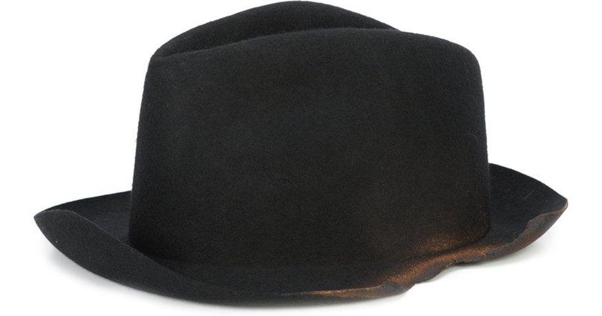 Lyst - Reinhard Plank Laila Torn Hat in Black for Men 6c8506b386db