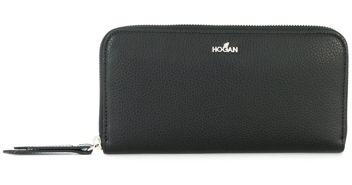 zip-around continental wallet - Black Hogan ROmaQt84