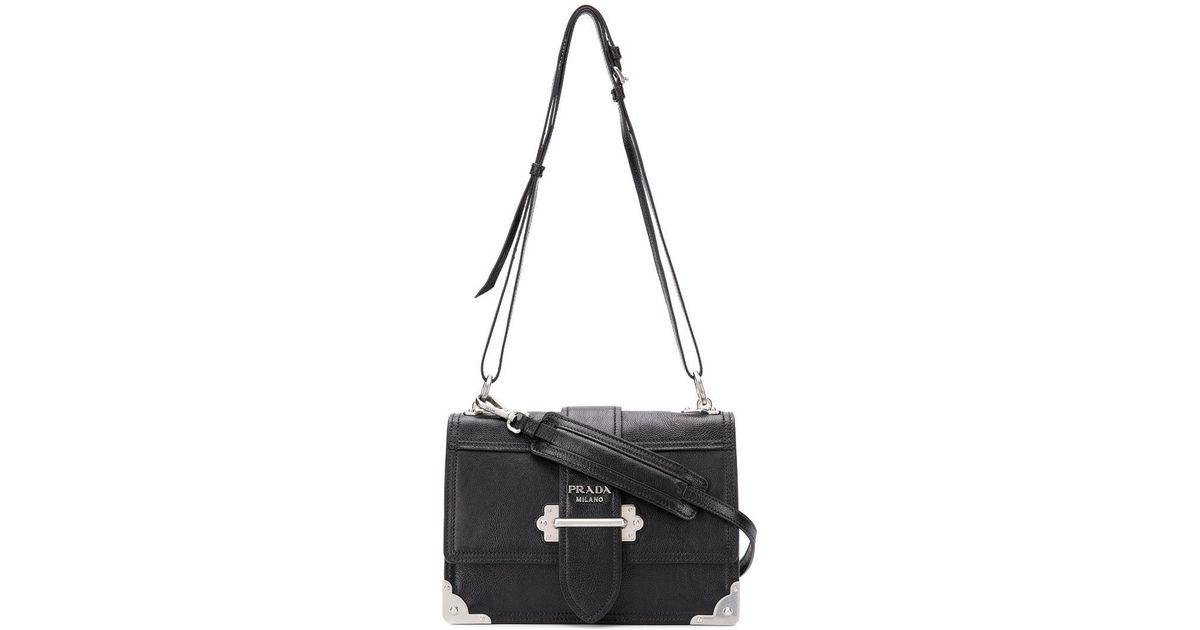 Lyst - Prada Classic Shoulder Bag in Black 81933ac3b0cf5