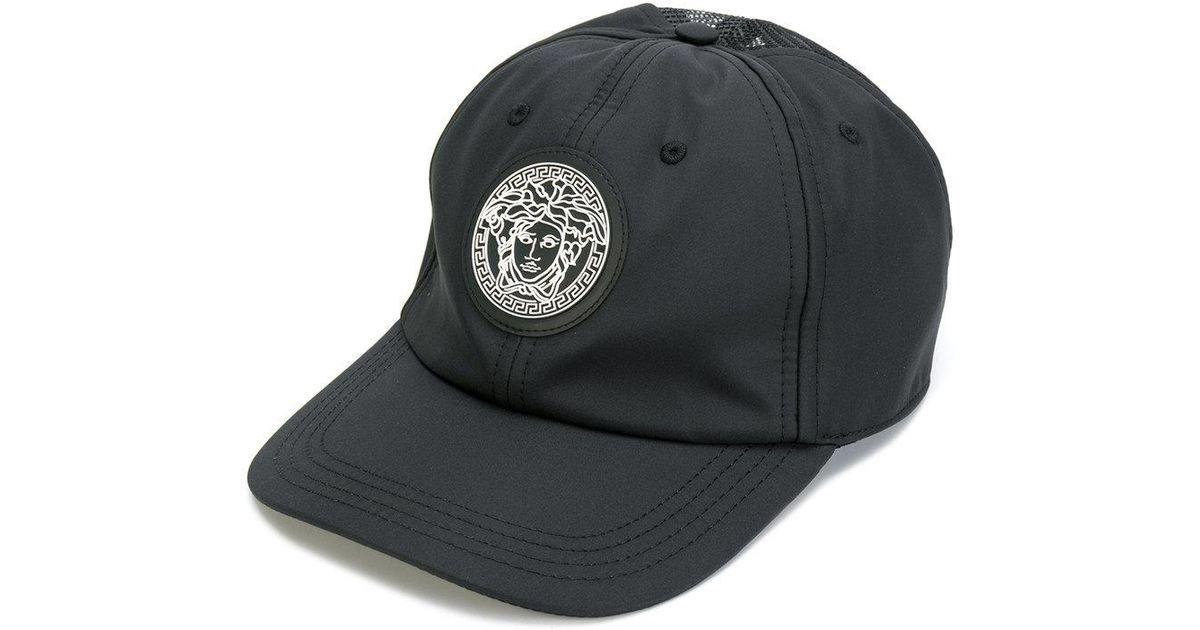 21310b52d36 Lyst - Versace Medusa Patch Baseball Cap in Black for Men