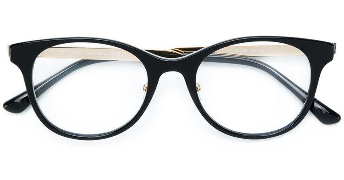 Lyst - Jimmy Choo Rectangle Frame Glasses in Black for Men