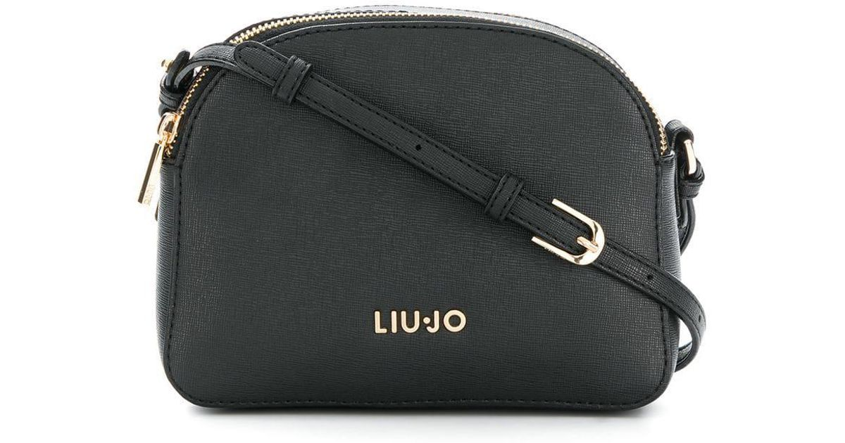 Lyst - Liu Jo Logo Plaque Crossbody Bag in Black d465b55d3e5
