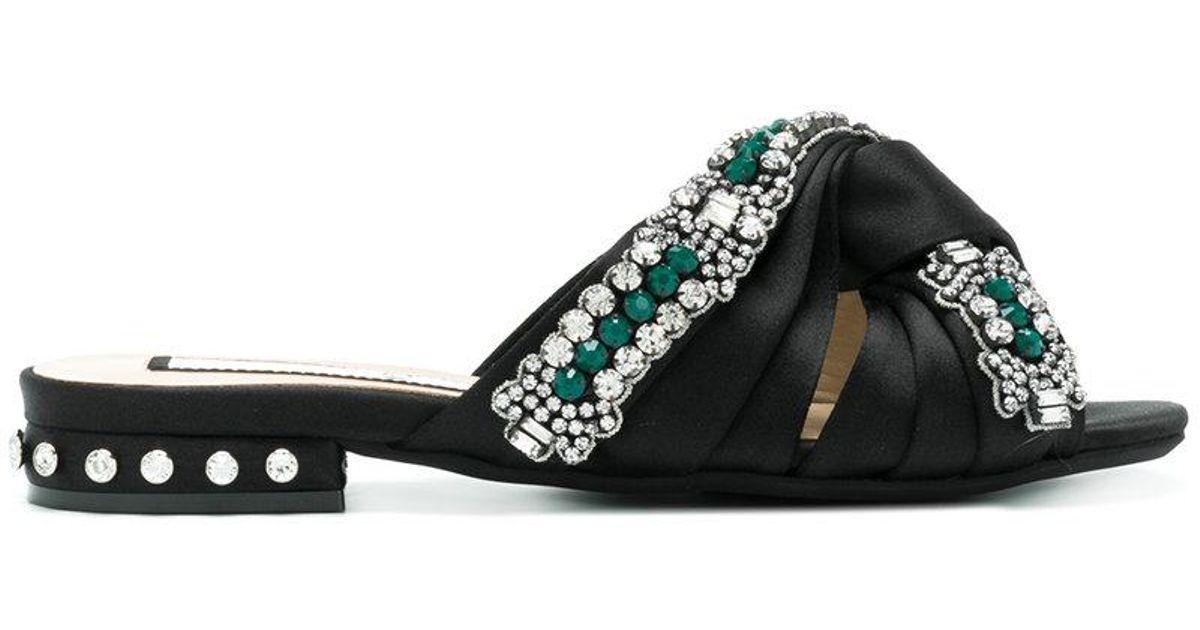 N°21 Sandales À Nouées Black Brides Lyst 0nwOPk