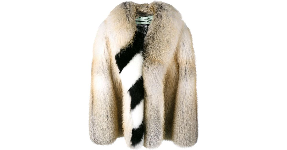c90be54b59bc5 Lyst - Off-White c o Virgil Abloh Oversized Diagonal Stripe Coat in Brown