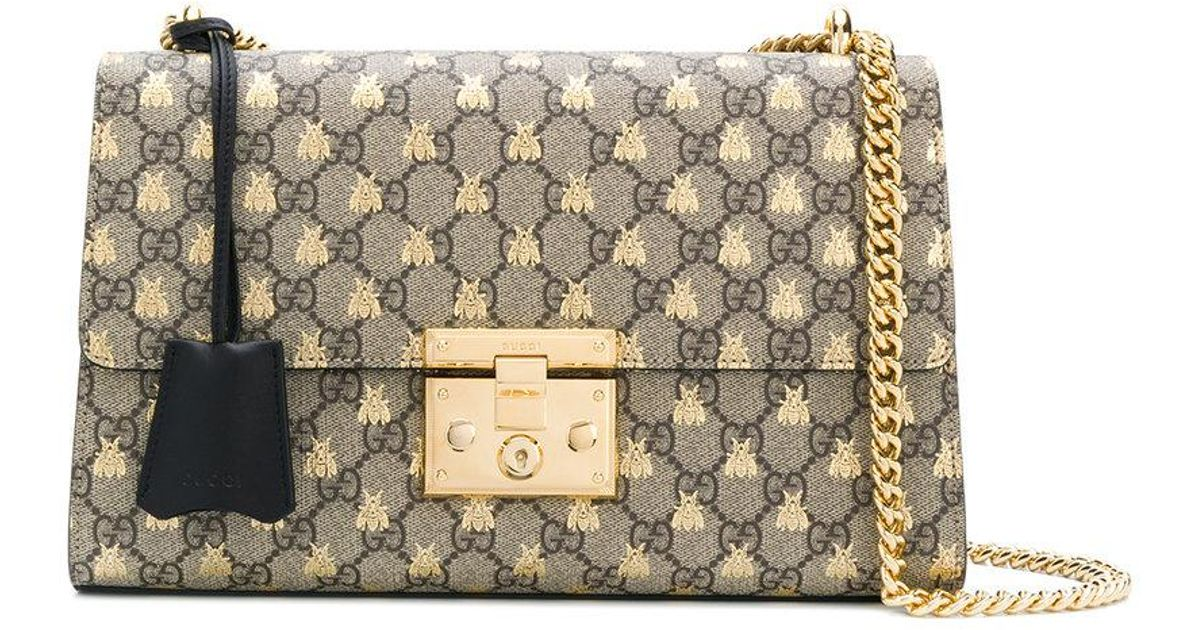 8b07158eaa Gucci Multicolor Padlock Gg Bees Shoulder Bag