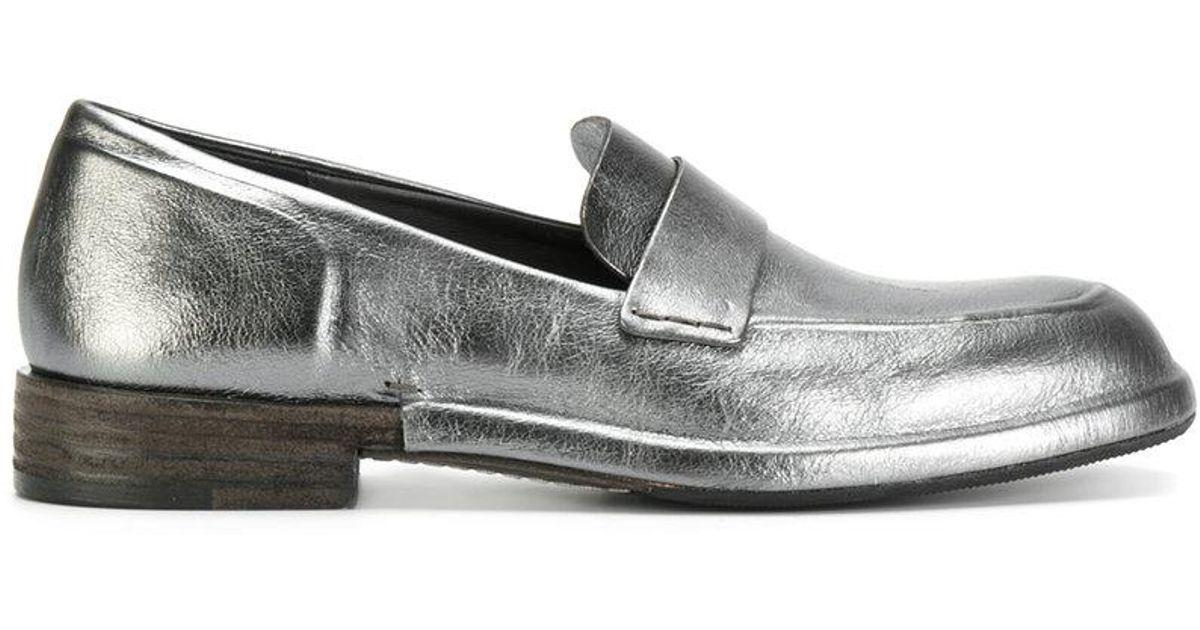contrast heel loafers - Metallic Del Carlo pyzcvO0V
