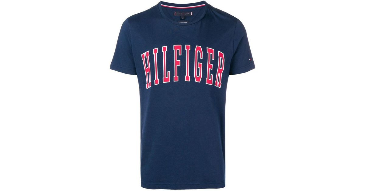 b31c77db Lyst - Tommy Hilfiger Brand Print T-shirt in Blue for Men