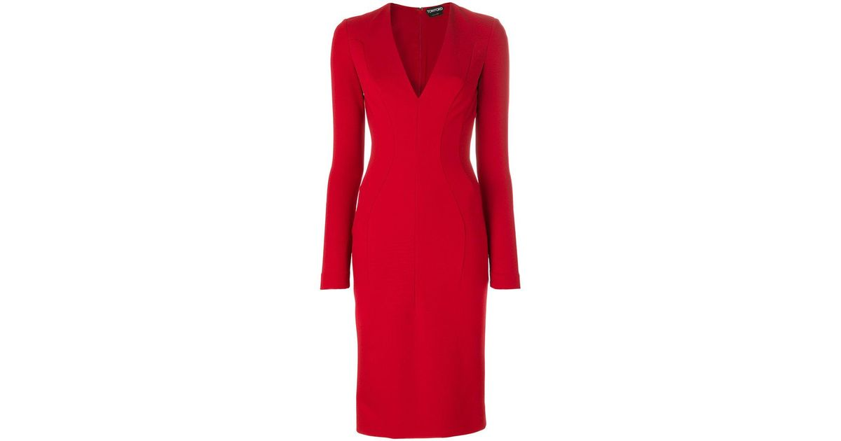 fitted midi dress - Red Tom Ford Best Prices Sale Collections Outlet Fashion Style For Cheap Lph1iD