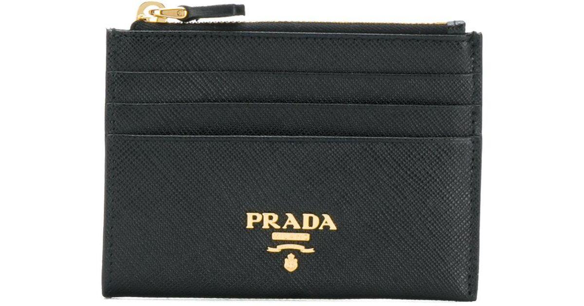 003e5abd Prada Black Saffiano Zip Cardholder