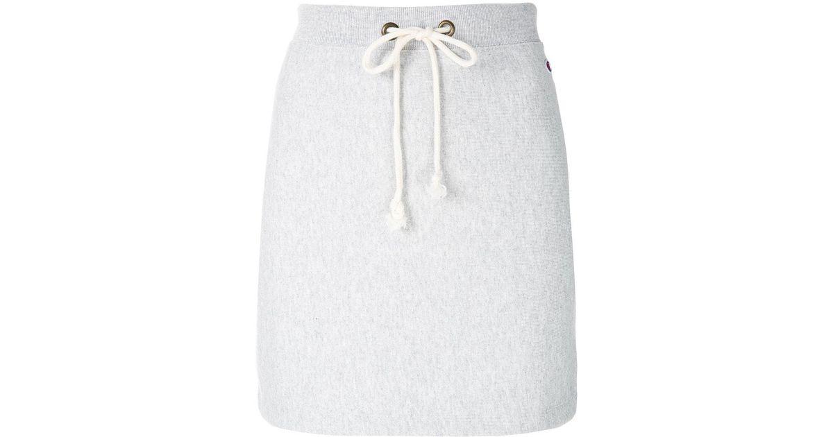 78a9d3884 Champion Drawstring Waist Skirt in Gray - Lyst