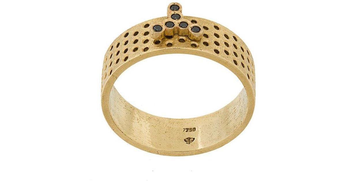 14kt yellow gold Lennon ring - Metallic Savoir Joaillerie OkDZm