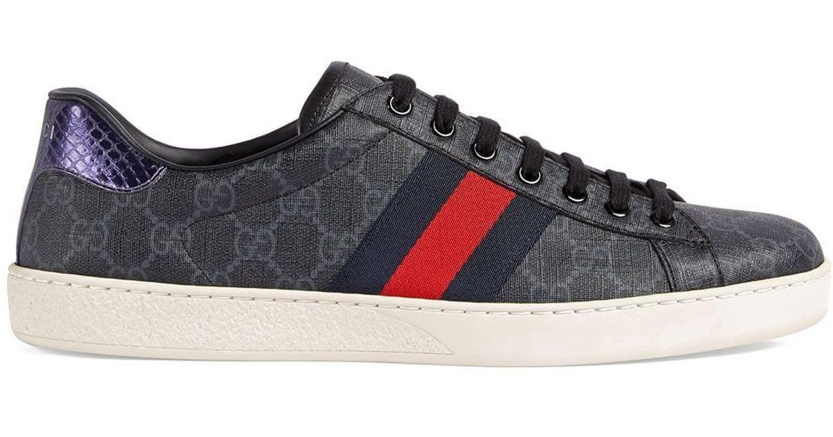 a048336ab Gucci Ace GG Supreme Sneaker in Black for Men - Save 40% - Lyst