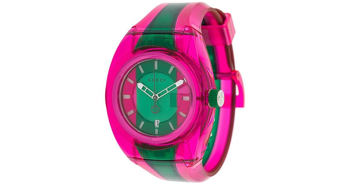 27e319de776 Lyst - Gucci Sync Watch in Pink for Men