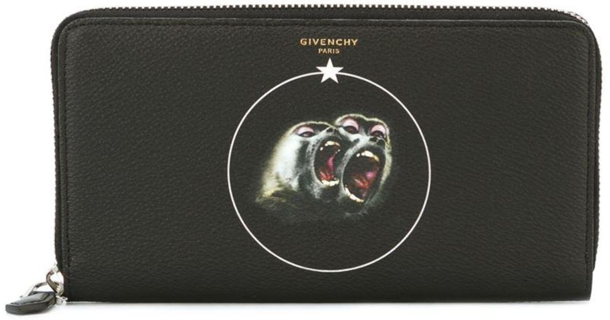 41005e0a32d4 Givenchy Monkey Brothers Wallet in Black for Men - Lyst