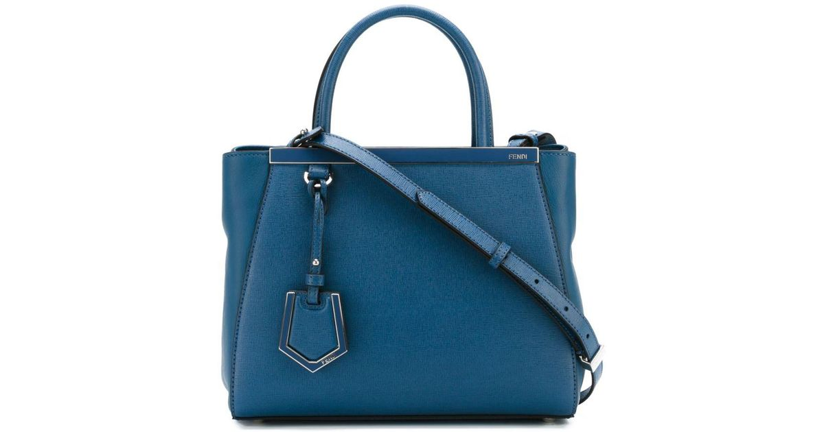 Lyst - Fendi Small  2jours  Tote in Blue 079f9d3958