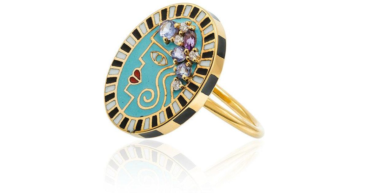 Holly Dyment 18k gold and diamond flower ring - Metallic hN92t5n8