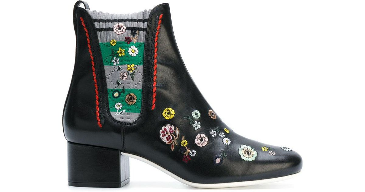 Fendi Floral embroidered boots CsQDUia
