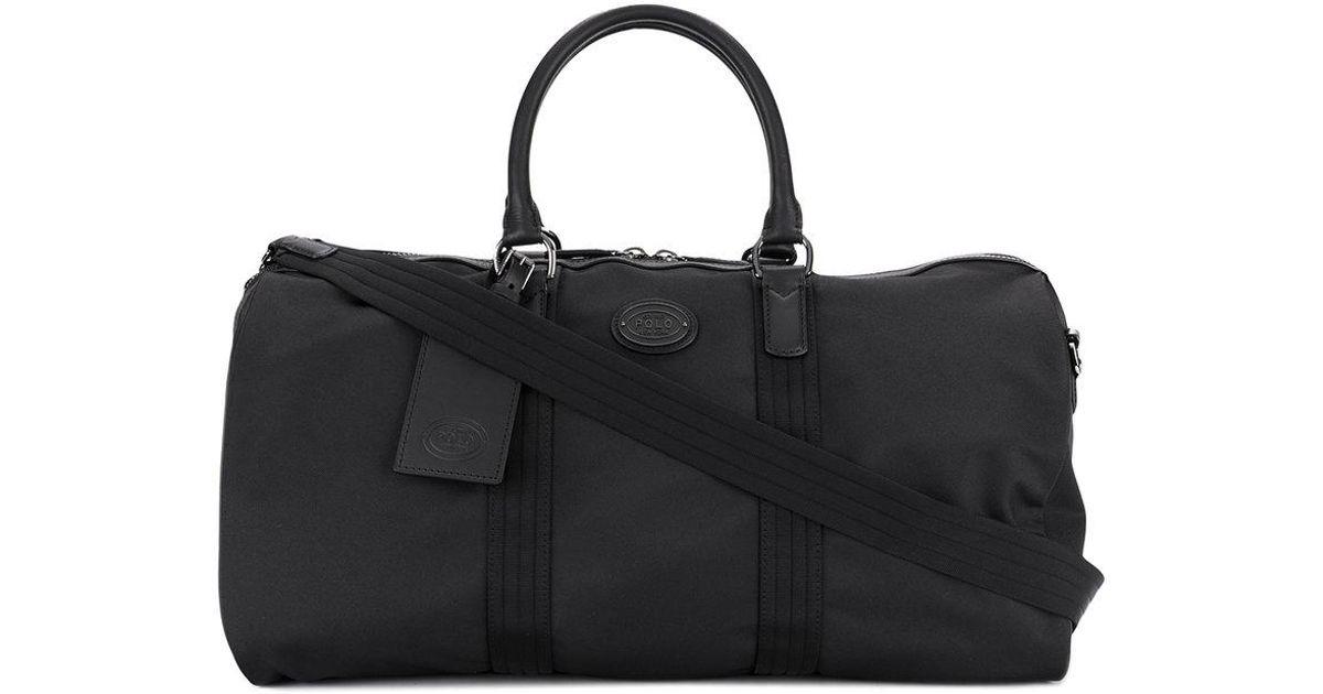 6437303a8b Lyst - Polo Ralph Lauren Logo Plaque Holdall in Black for Men