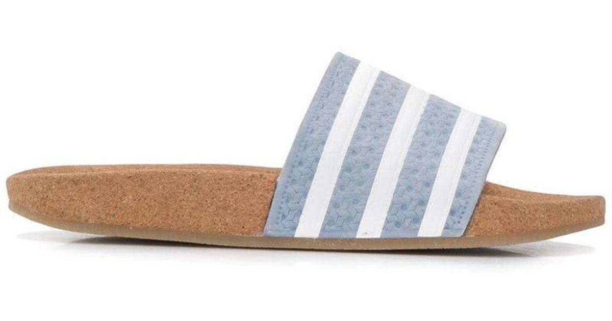 Adidas Color Blue Adilette Chanclas Corcho De DYeWb9IHE2
