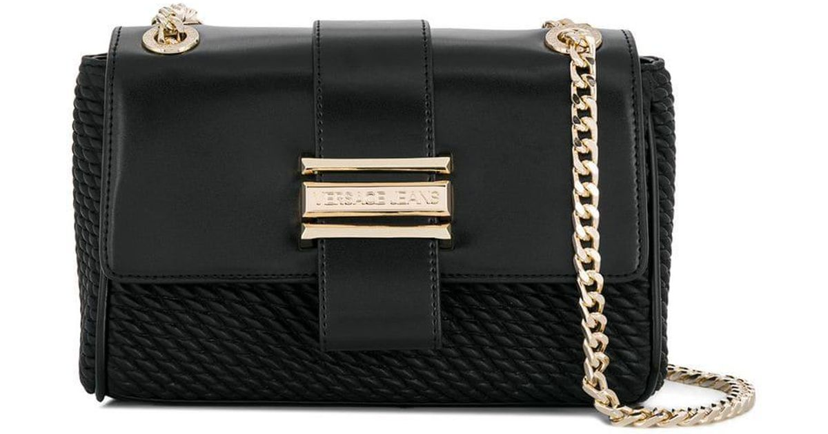 Lyst - Versace Jeans Chain Crossbody Bag in Black b6a28bc0a5e5d