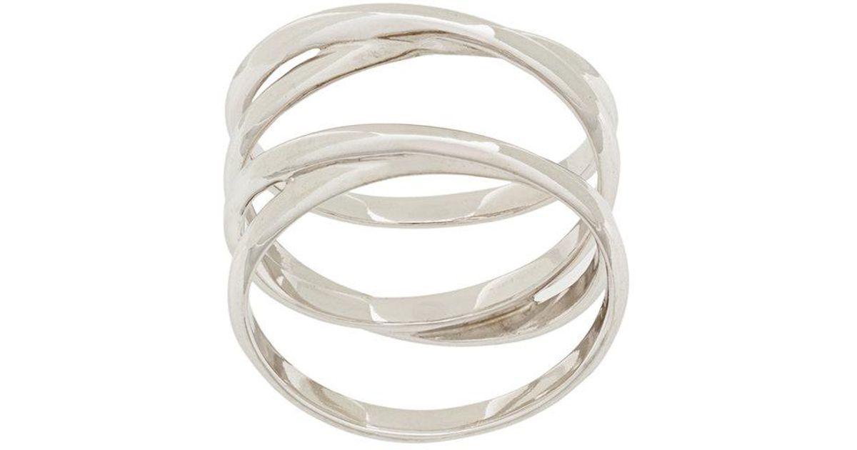Maria Black Auguste wrap ring - Metallic AJSiBRDA1