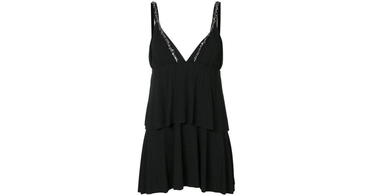 4791073d30 Saint Laurent Layed Style Dress in Black - Lyst