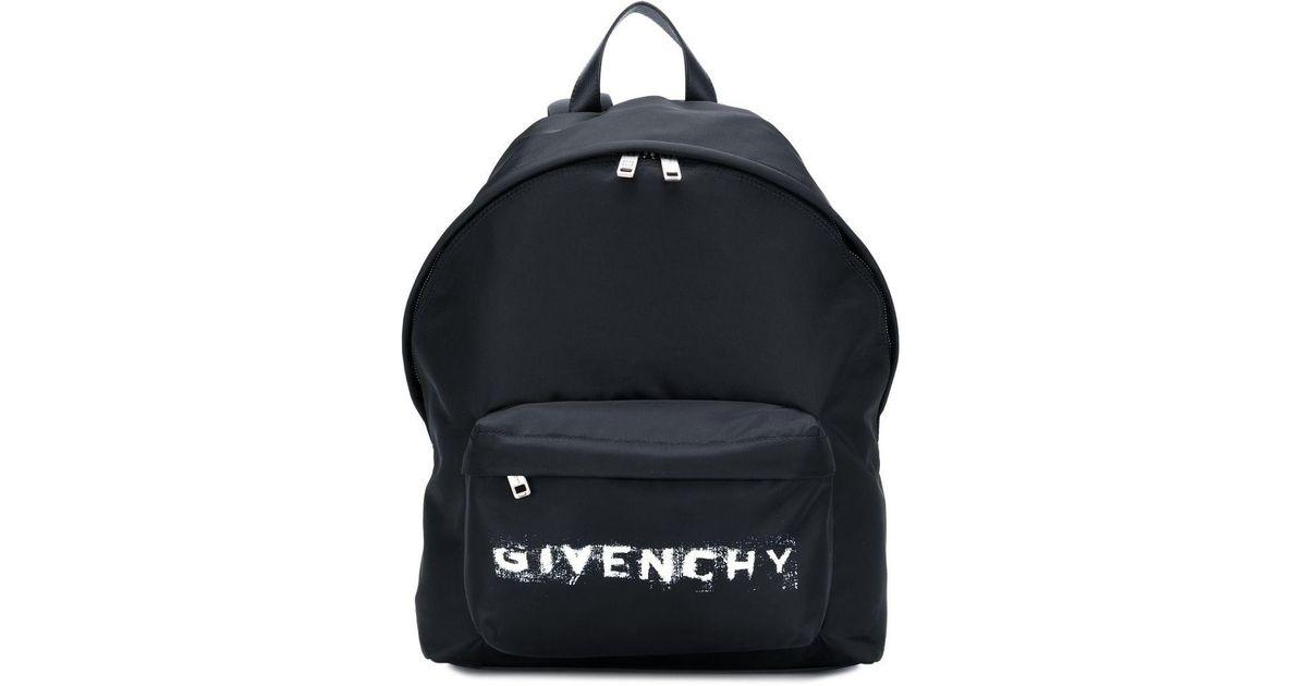 63c988af5aca Lyst - Givenchy Faded Logo Backpack in Black for Men