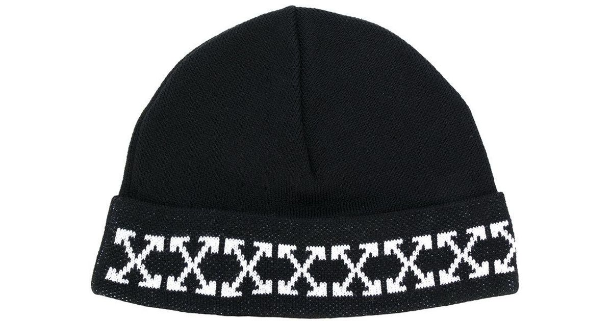 020d0d2ad Off-White c/o Virgil Abloh Black Arrow Beanie for men