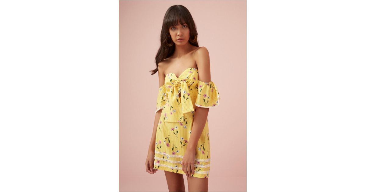 9f2939aa39 Finders Keepers Limoncello Mini Dress in Yellow - Lyst