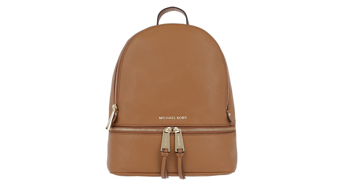 47a97244420292 Michael Kors Rhea Zip Md Backpack. Acorn in Brown - Lyst