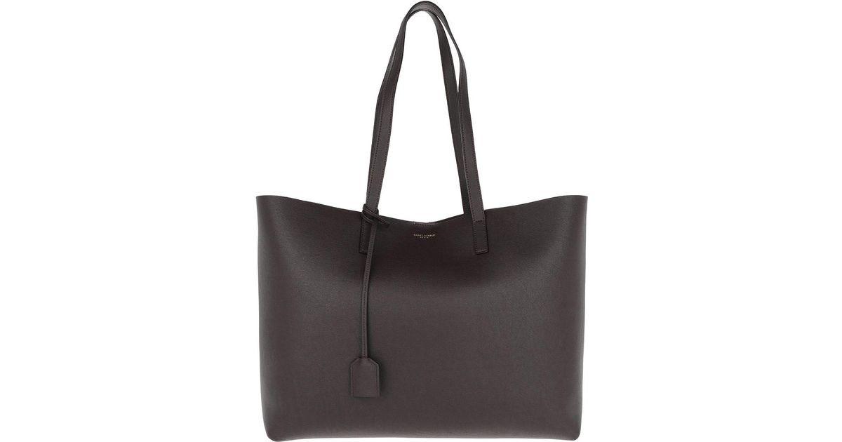 Saint Laurent Ysl Large Shopping Bag Black Tulip in Purple - Lyst 5d84913f9e1f9